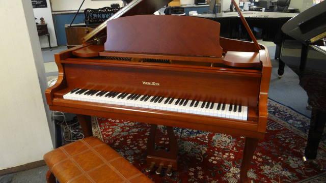 "Item #16006 <br><font color=black><b>WURLITZER</b></font> 5'0″ Grand Piano 'Art Case Queen Anne Cherry"""