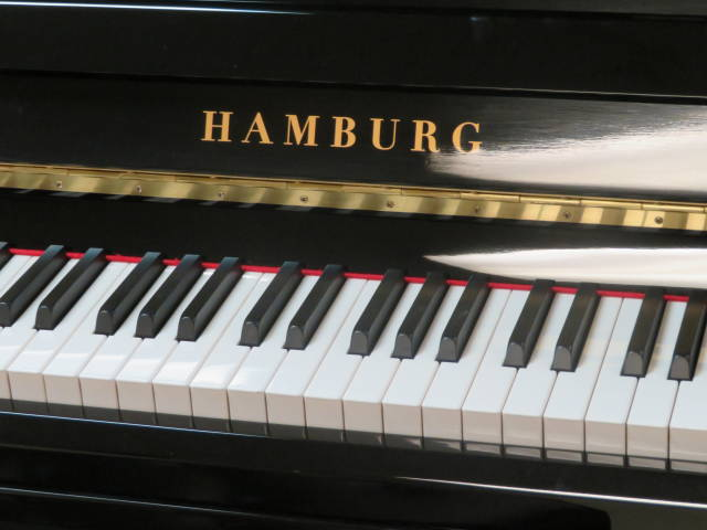 "Item #20002 <br><font color=""black""><b>NEW HAMBURG</b></font> German Scale Design 48″ Professional Upright"