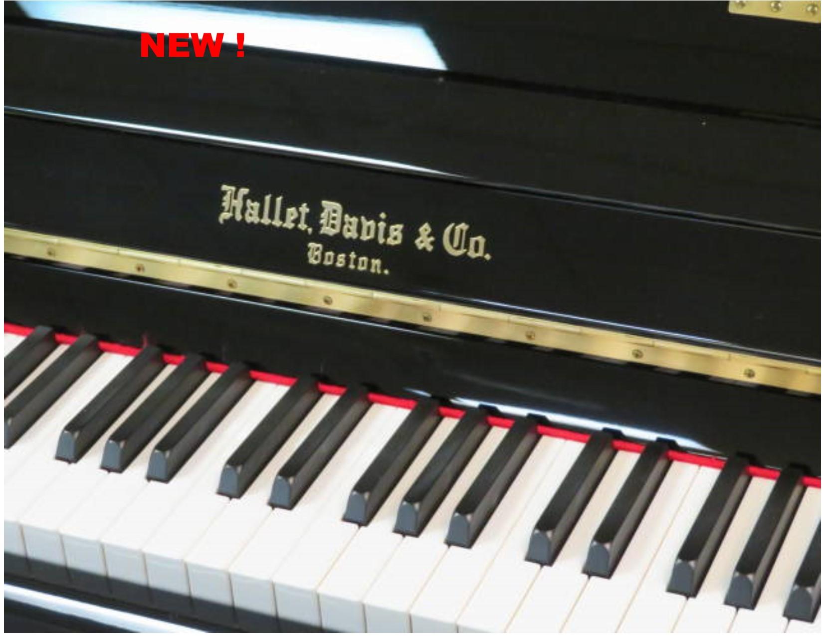 """12365 <br><font color=""""black""""><b> NEW HALLET DAVIS</b></font> 48″ Professional Upright<br> •European Design<br> •European Sound <br>•European Tradition <br><font color=""""blue""""><b>Click Picture for """"Live Video""""</b></font>"""