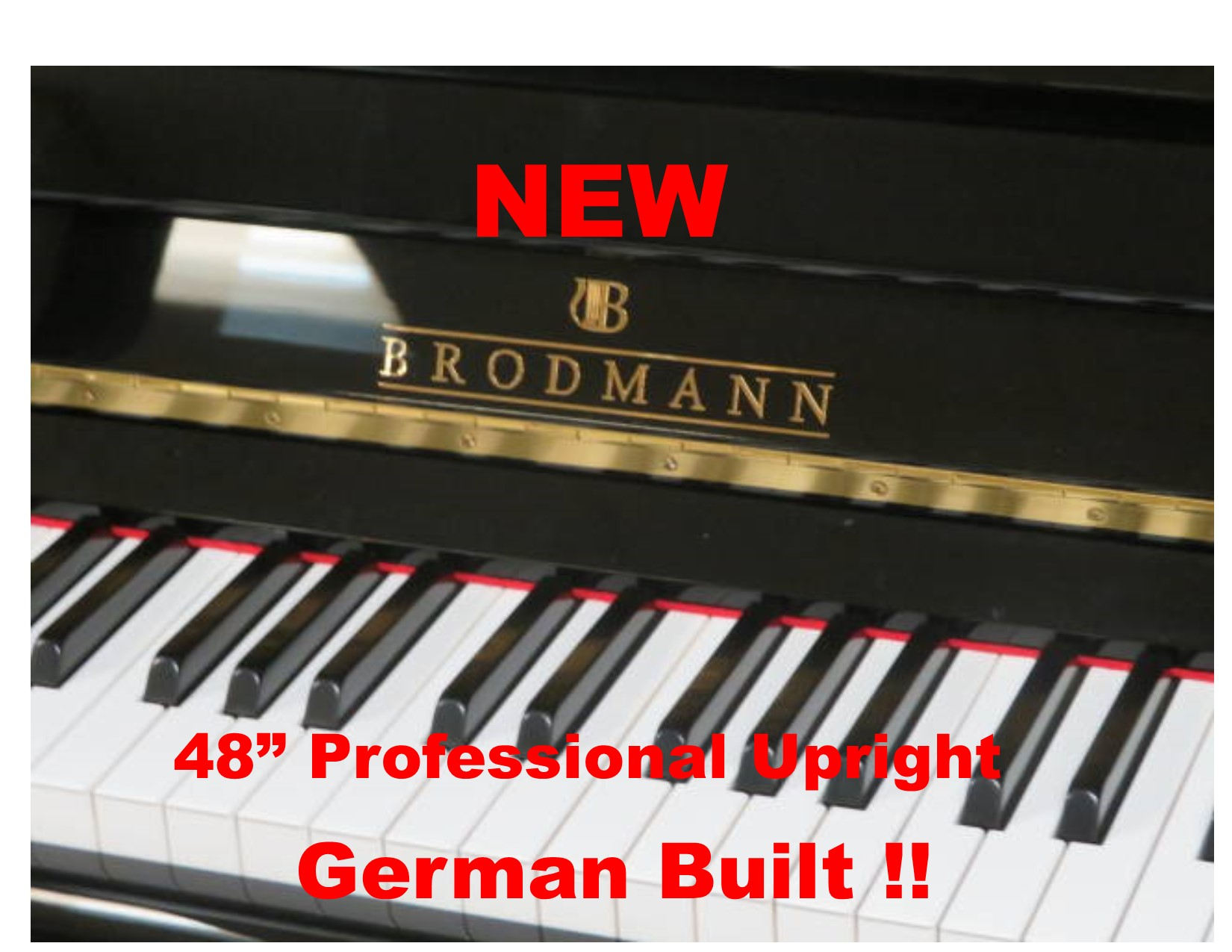 "15749-<br><font color=""black""><b>NEW BRODMANN</b></font> 48″ Professional Upright ""German Built""<br><font color=""blue""><b>Click Picture for ""Live Video""</b></font>"