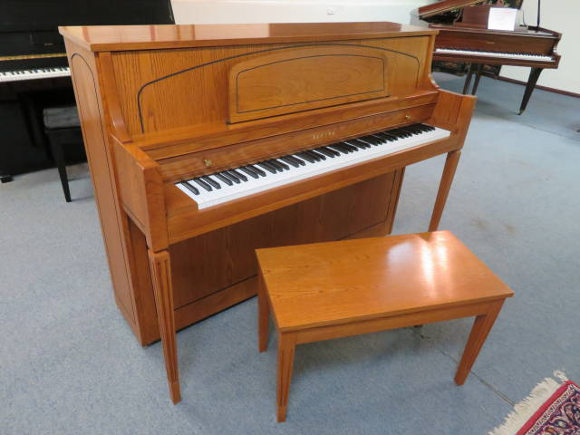 "Item #29342 <br><font color=""black""><b>YAMAHA</b></font> 44″ Upright Piano Beautiful Satin Oak"