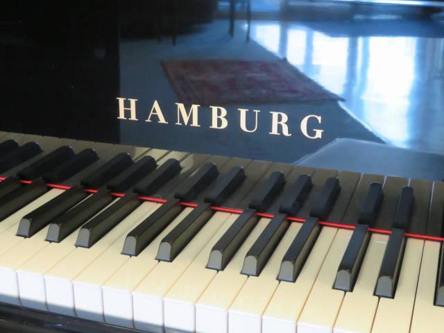 "14108 – <br><font color=black><b>NEW HAMBURG</b></font> 5'7″ Premium Grade Grand Piano – German Scale Design, European Quality – Click Picture for ""Live Video"""