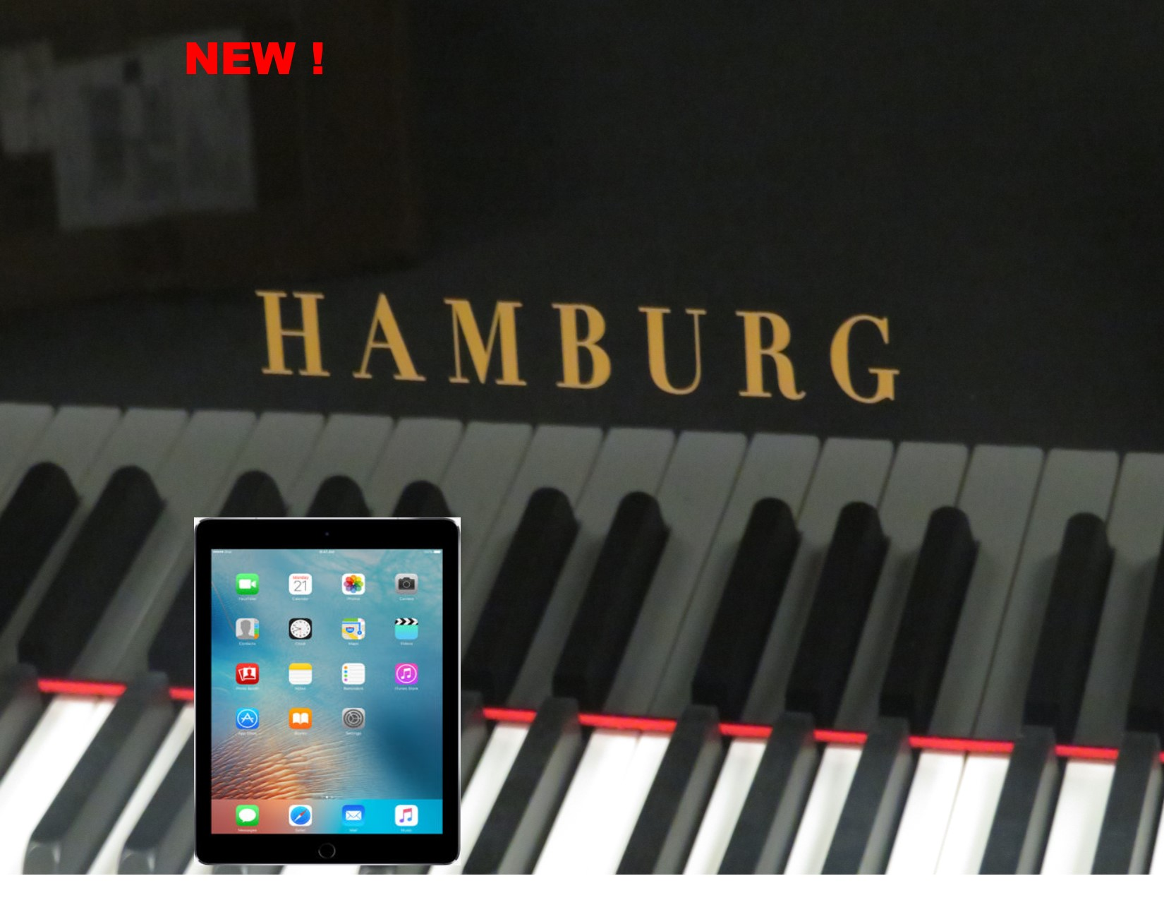 """12380 – <br><font color=black><b>NEW HAMBURG</b></font> 5'0″ Premium Grade Piano with State-of-the-Art QRS player system<br><font color=blue><b>Click Picture for """"Live Video""""</b></font>"""