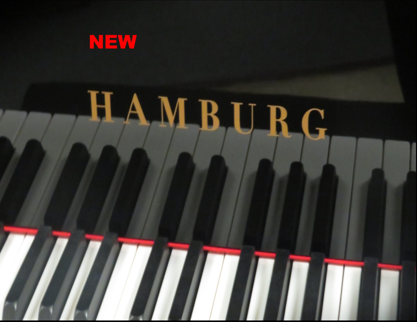 "12111- <br><font color=black><b>NEW HAMBURG</b></font> 5'7″ GRAND PIANO <br> •German Wide Tail Design<br> •European Sound <br>•European Quality<br><font color=blue><b>Click Picture for ""Live Video"" </b></font>"