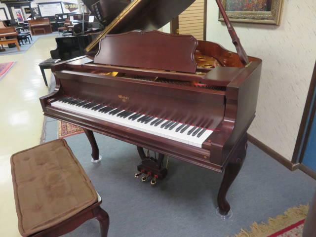 "13992-<br><font color=""black""><b>WEBER</b></font> 5'0″ Premium Grade Grand Piano Queen Anne Dark Satin Cherry Designer Case<br><font color=""blue""><b>Click Picture for ""Live Video""</b></font>"