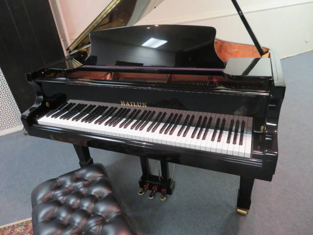 "Item #19534-<br><font color=""black""><b>HAILUN</b><br><font color=""black""><b> 5'10"" Hand Built ""German Designed"" Grand Piano<br><font color=""red""><b>SOLD DELAWARE, OH</b></font>"