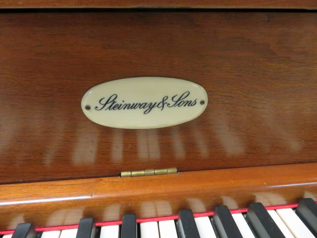 """15938-<br><font color=""""black""""><b>STEINWAY & SONS</b></font> Heirloom Quality Upright Piano Hand Built in New York <br><font color=""""red""""><b>SOLD – WEST CHESTER, OH</b></font>"""