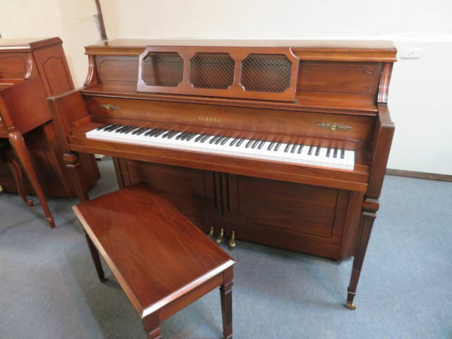 "17228-<br><font color=""black""><b>YAMAHA</b></font> 44″ Upright Piano Excellent Condition! Beautiful Dark Walnut<br><font color=""blue""><b>Click Picture for ""Live Video""</b></font>"