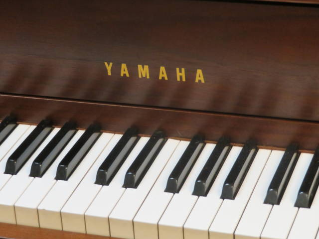 """17230-<br><font color=""""black""""><b>YAMAHA</b></font> 44″ Upright Piano Made in Japan Gorgeous Dark Satin Walnut<br><font color=""""red""""><b>SOLD – BATESVILLE,  IN</b></font>"""