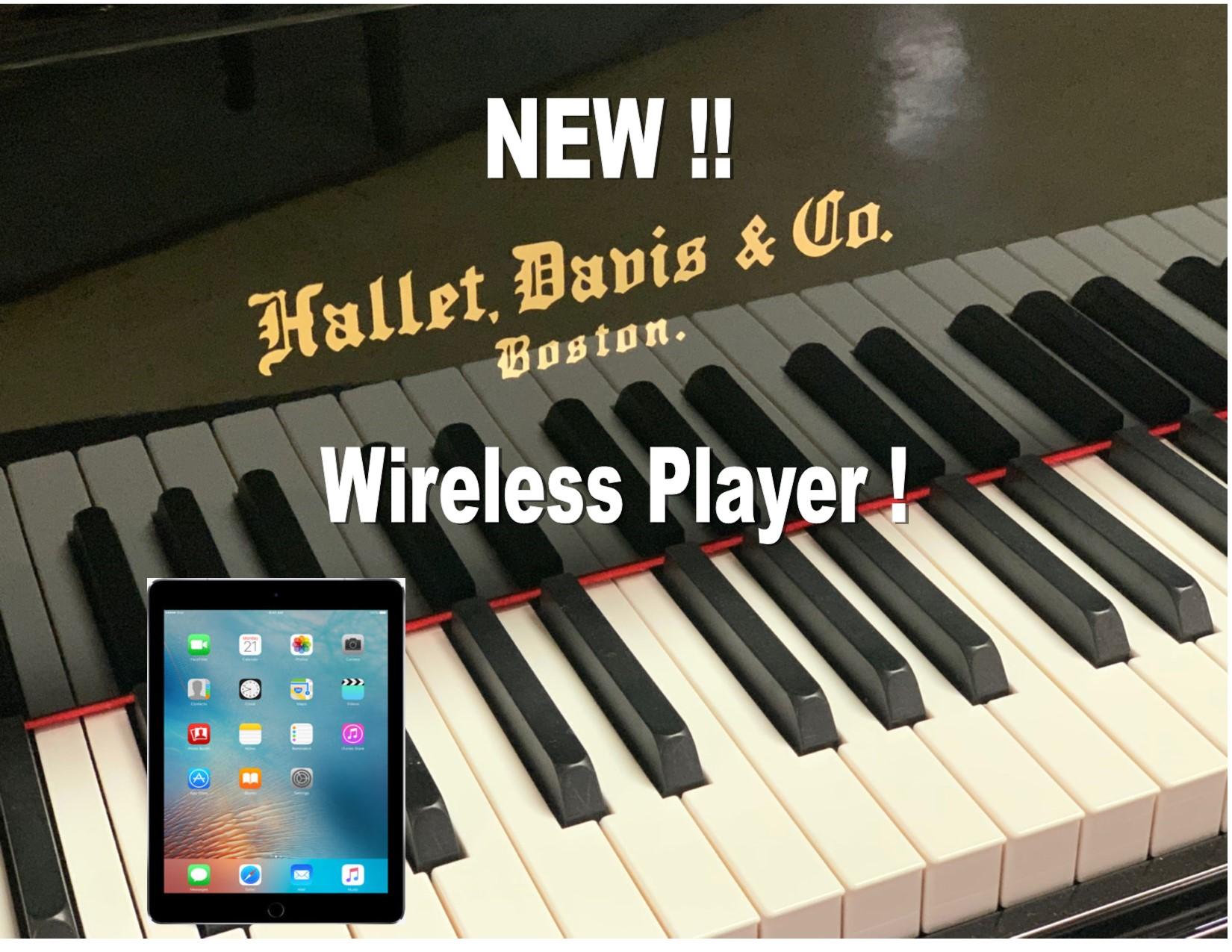 "12461-<br><font color=black><b>Hallet Davis</b></font> 5'0″ Premium Grade Grand w/State of the Art QRS Wireless Player System<br><font color=blue><b>Click Picture for ""Live Video""</b></font>"