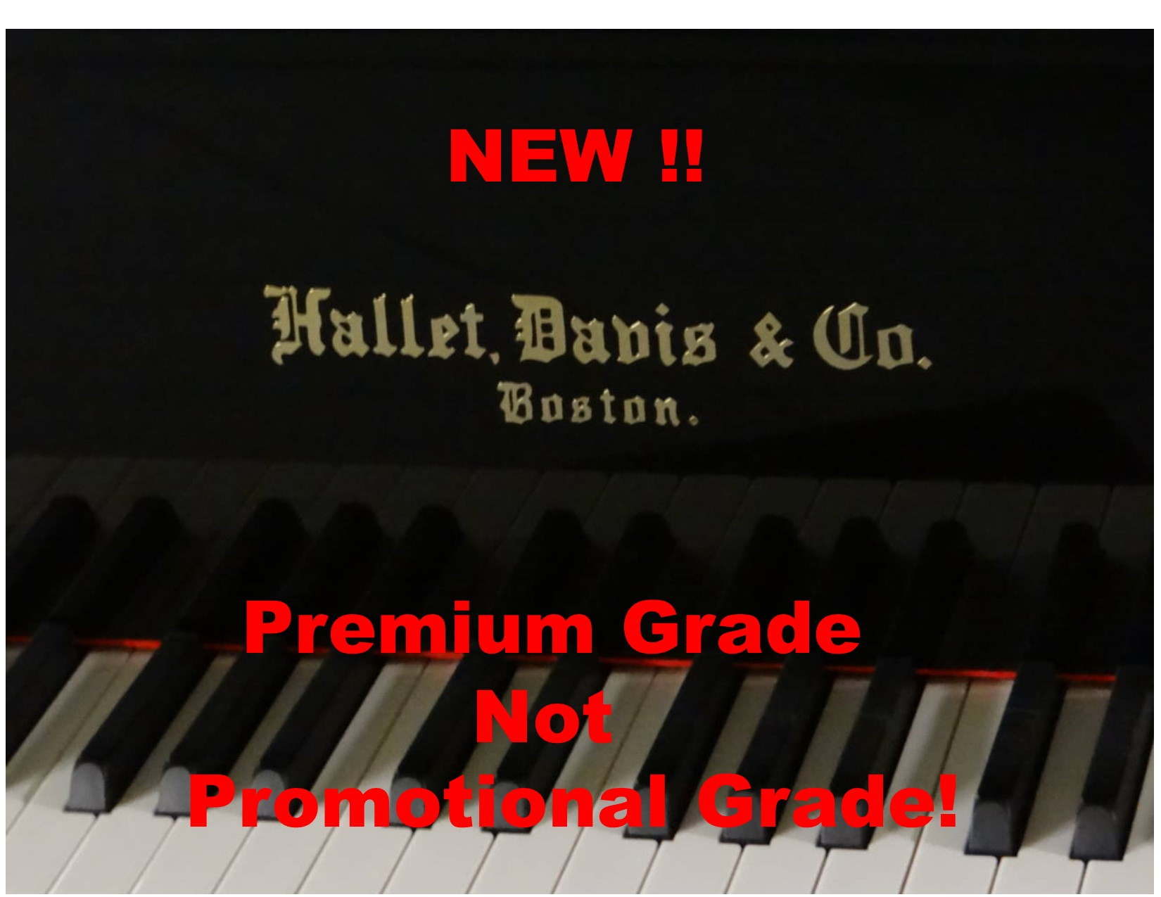 "13900-<br><font color=black><b>NEW HALLET DAVIS</b></font> 5'7″ Grand Piano ""German Wide Tail Design<br><font color=blue><b>Click Picture for ""Live Video""</b></f<br><font color=""red""><b>Guaranteed Lowest Price !</b></font>"