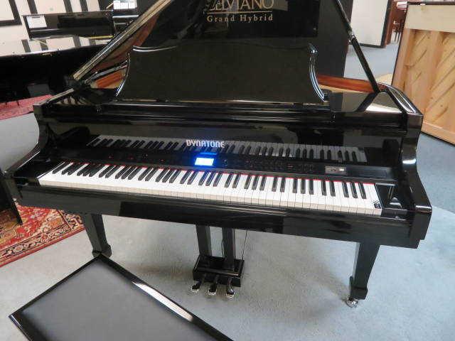 "17999-<br><font color=""black""><b>NEW DYNATONE</b></font>""State of the Art"" 4'7″ Player Digital Grand Piano Beautiful Polished Ebony<br><font color=""blue""><b>Keys Move!! Click Picture for ""Live Video""</b></font><br><font color=""red""><b>Guaranteed Lowest Price !</b></font><br>"