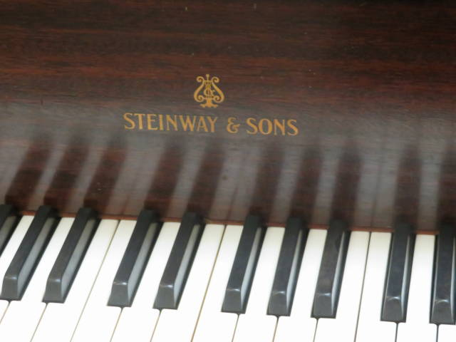 "12906-<br><font color=black><b>STEINWAY & SONS</b></font> Model M 5'7″ Grand Piano Hand Built in New York<br><font color=blue><b>Click Picture for ""Live Video""</b></font>"