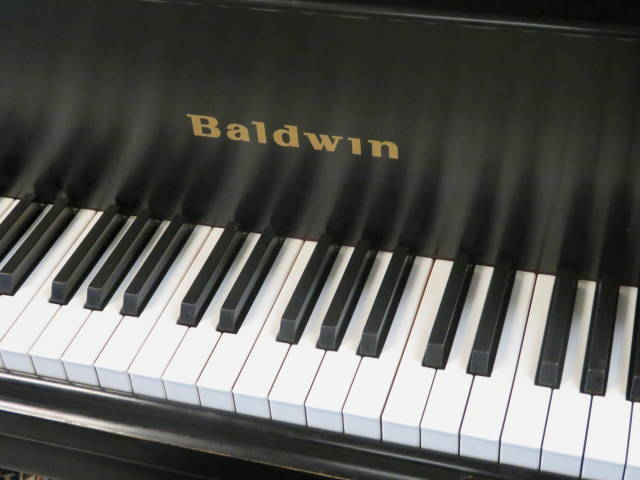 "item #14112 <br><font color=""black""><b>BALDWIN</b></font> Model R 5'8″ Artist Grand Hand Built in the U.S.A. Classic Satin Ebony Excellent! <br><font color=""red""><b>SOLD – BLUE ASH, OH</b></font>"
