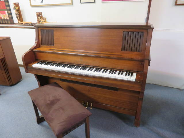 """29541-<br><font color=""""black""""><b>STORY & CLARK</b></font> 45″ Upright Piano Made in the U.S.A. Fantastic Tone! Excellent Condition!"""