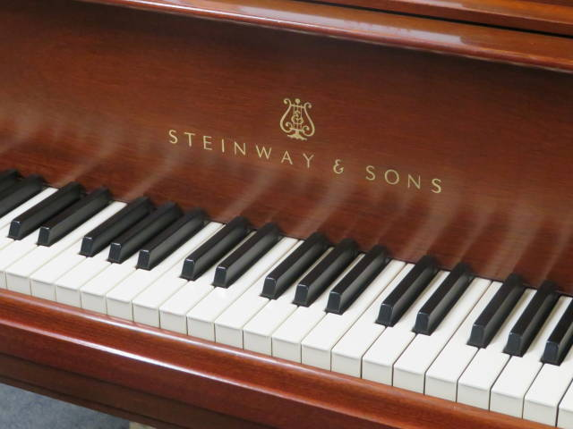 "15210- <br><font color=""black""><b>STEINWAY & SONS</b></font> Model M 5'7″ Grand Piano One Owner All Original Beautiful Satin Mahogany"