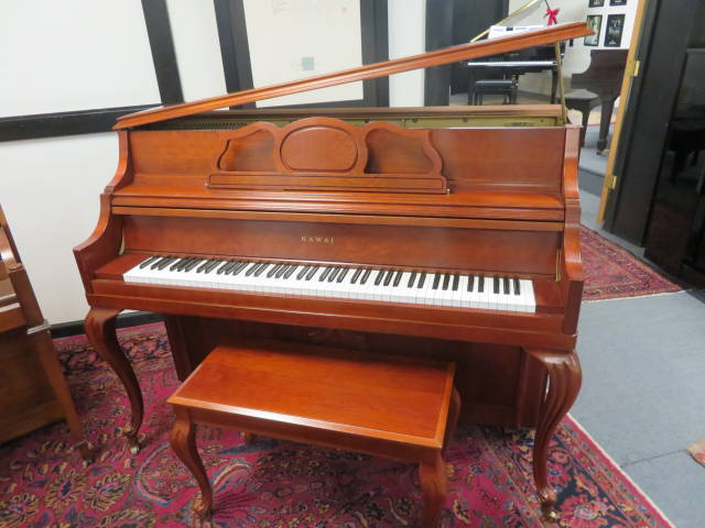 """17017- <br><font color=""""black""""><b>KAWAI</b></font> 46″ Upright Piano Designer Cabinet Beautiful Queen Anne Cherry<br><font color=""""red""""><b>SOLD-MIDDLETOWN, OH</b></font>"""
