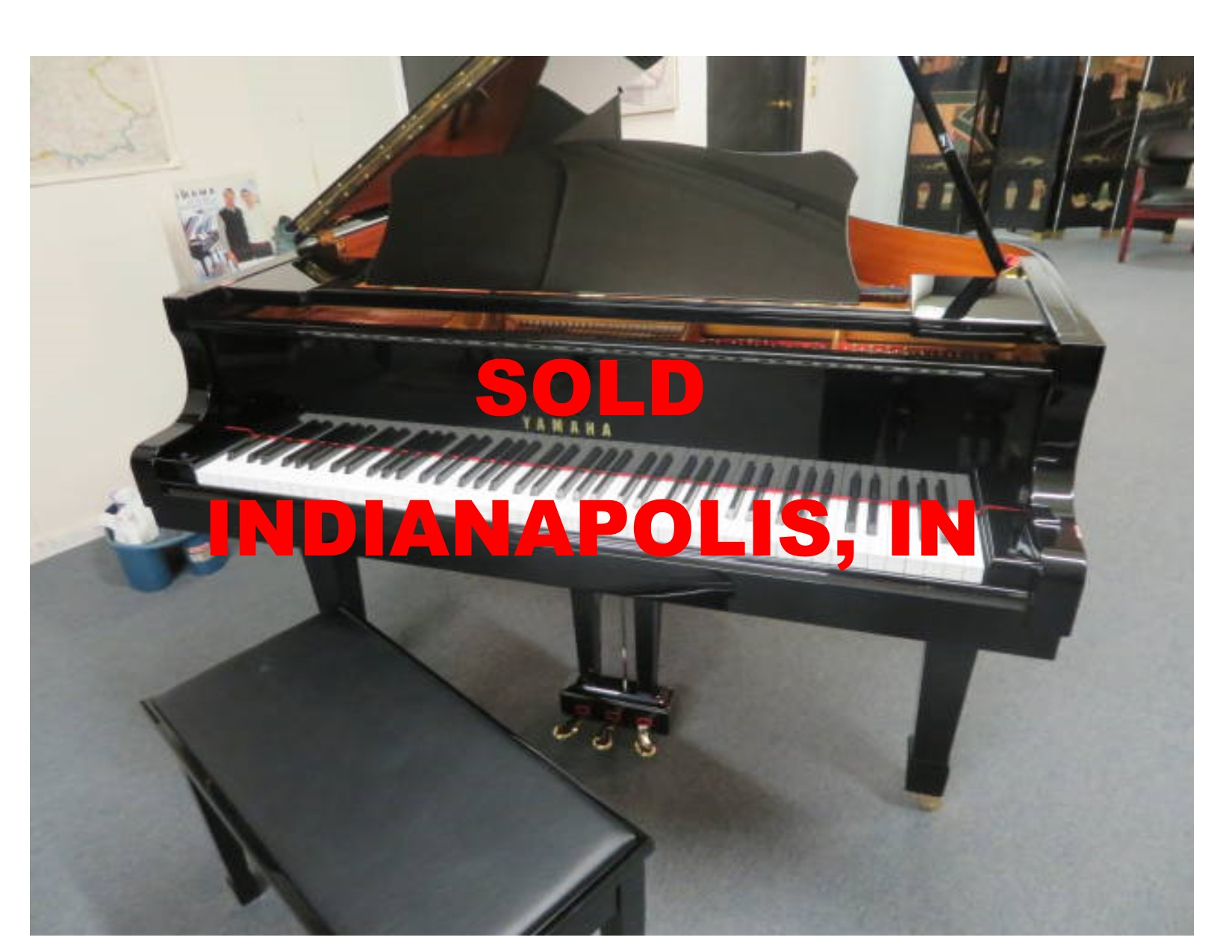 "13787-<br><font color=black><b>YAMAHA</b></font> 5'8″ Model C2 Conservatory Grand ""Mint Condition"""