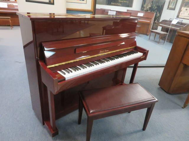 "13804- <br><font color=""black""><b>PEARL RIVER</b></font> Professional Upright Gorgeous Polished Mahogany ""MINT!<br><font color=""red""><b>SOLD – WEST CHESTER, OH</b></font>"