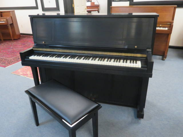 "15800-<br><font color=""black""><b>STEINWAY & SONS</b></font> 46 1/2″ Upright Model 1098 Classic Satin Ebony"