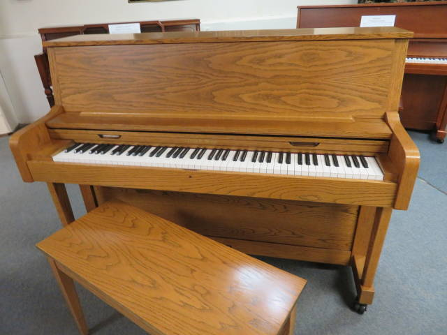 "15781-<br><font color=""black""><b>Charles R Walter</b></font> 45″ Upright Piano ""Hand Built in the U.S.A. Perfect ! <br><font color=blue><b>Click Picture for ""Live Video""</b></font>"