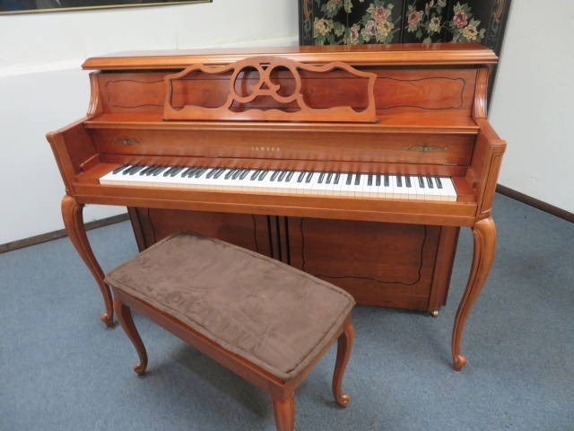 "15782-<br><font color=""black""><b>YAMAHA</b></font> 44″ Upright Piano Designer Beautiful French Cherry Excellent!"