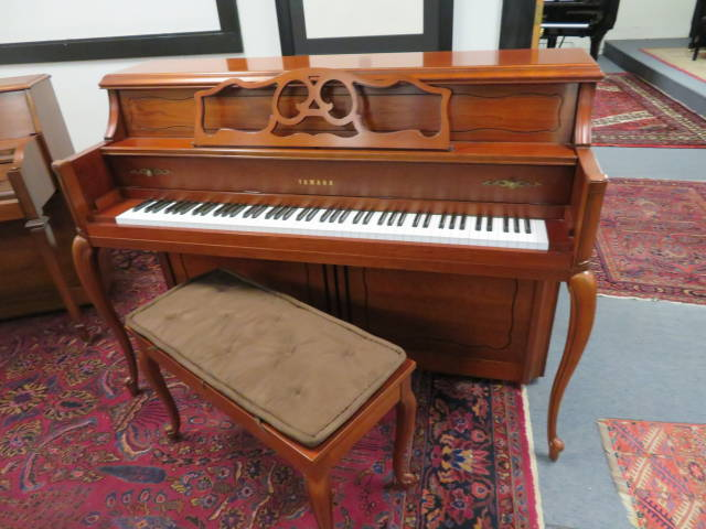 "15782-<br><font color=""black""><b>YAMAHA</b></font> 44″ Upright Piano Designer French Cherry <font color=""blue""><b>Click Picture for ""Live Video""</b></font>"