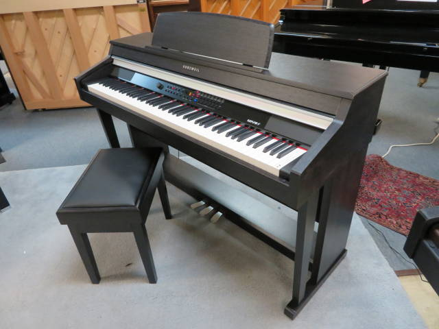 "17980-<br><font color=""black""><b>KURZWEIL ""DELUXE"" DIGITAL PIANO</b></font> Beautiful Satin Rosewood Cabinet!<br><font color=""blue""><b>Click Picture for ""Live Video""</b></font>"