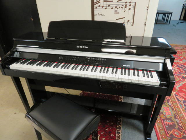 "17981-<br><font color=""black""><b>KURZWEIL ""DELUXE"" DIGITAL PIANO</b></font> Beautiful Polished Ebony Cabinet!"