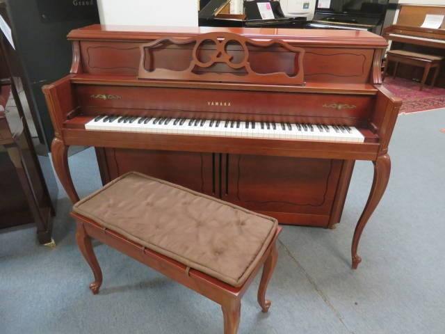 "15782-<br><font color=""black""><b>YAMAHA</b></font> 44″ Upright Piano Designer Dark French Cherry Excellent!  <br><font color=""blue""><b>Click Picture for ""Live Video""</b></font>"