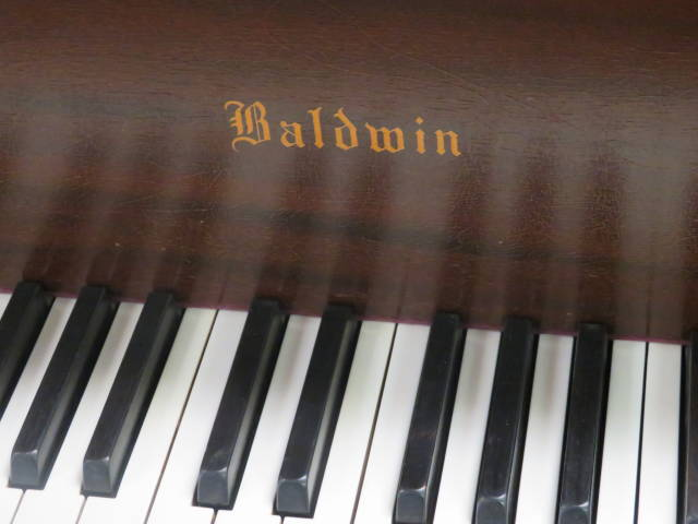 "12904-<br><font color=black><b>""VINTAGE"" BALDWIN</b></font> 5'2″ Model M Artist Grand w/Deluxe Leather Artist Bench<br><font color=blue><b>Click Picture for ""Live Video""</b></font>"