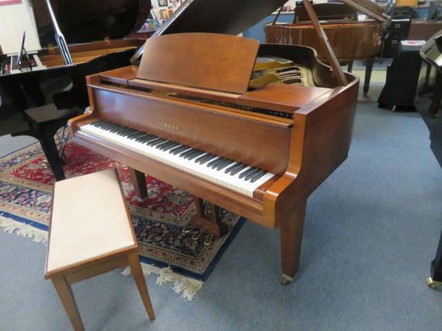"""12910-<br><font color=black><b>YAMAHA</b></font> 5'3″ Grand Piano Made for the American Market Satin Walnut <br><font color=blue><b>Click Picture for """"Live Video""""</b></font>"""