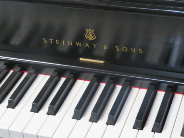 """15760-<br><font color=""""black""""><b>STEINWAY & SONS</b></font> Heirloom Upright Classic Satin Ebony Excellent<br><font color=blue><b>Click Picture for """"Live Video""""</b></font>"""