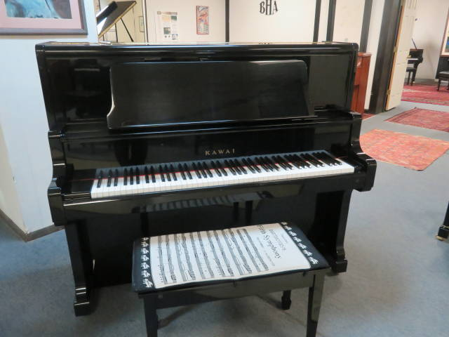 "15765-<br><font color=""black""><b>KAWAI</b></font> 52″ Professional Upright Tremendous Touch and Tone Sounds Like a 6'0″ Grand"