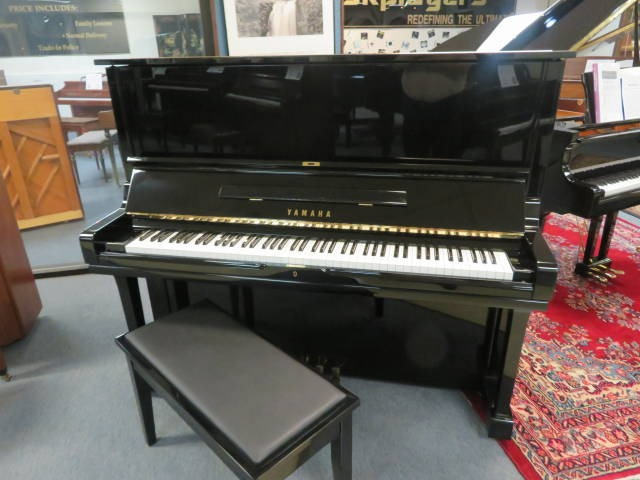 """15764<br><font color=""""black""""><b>YAMAHA</b></font> 52″ Model U3 """"Sounds Like a 6′ Grand Like New Inside and Out! <br><font color=""""blue""""><b>Click Picture for """"Live Video""""</b></font>"""