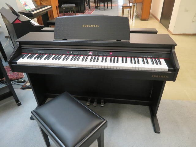 "17979- <br><font color=""black""><b>KURZWEIL DIGITAL PIANO</b></font> Beautiful Satin Rosewood Cabinet! <br><font color=blue><b>Click Picture for ""Live Video""</b></font>"