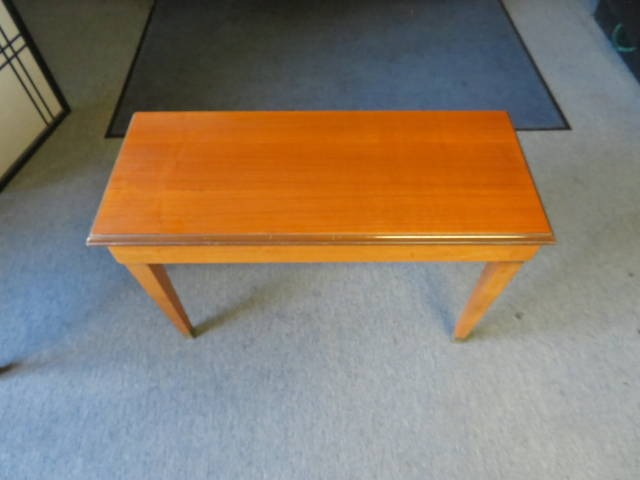 """18207-<br><font color=""""black""""><b>Pre-Owned Piano Bench 30X14 Solid Top Satin Walnut w/ Music Storage </b></font>"""
