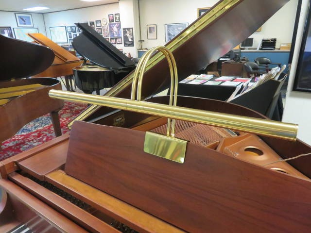 """<br><font color=""""black""""><b>Pre-Owned 23″ Brass Grand Piano Lamp</b></font>"""