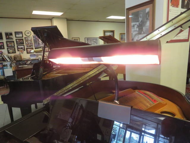 "18211-<br><font color=""black""><b>Pre-Owned 14″ Adjustable Grand Piano Lamp Satin Ebony</b></font>"