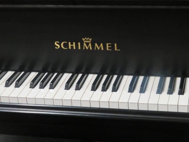 """12525-<br><font color=""""black""""><b>SCHIMMEL</b></font> 5'10"""" Model 182 Hand Built in Germany w/Renner Action Classic Satin Ebony Perfect ! <br><font color=""""blue""""><b>Click Picture for """"Live Video""""</b></font>"""
