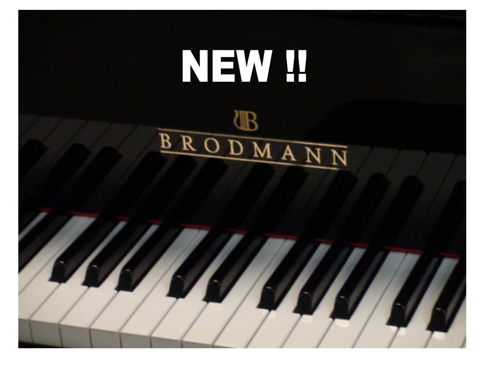 12808-<br><font color=black><b>NEW BRODMANN </b></font> 5'4″ GRAND PIANO <br>•European Built<br> •European Tradition<br> •European Sound