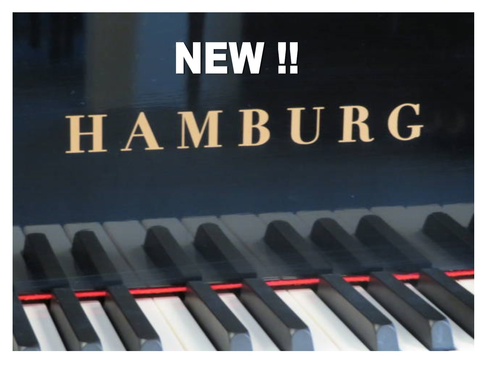 "12499-<br><font color=black><b>NEW HAMBURG</b></font> 6'2″ ""German Wide Tail Design Grand Piano"