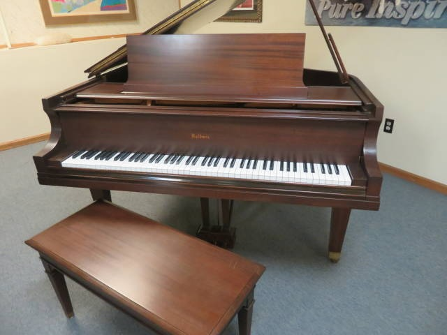 "12660-<br><font color=black><b>VINTAGE BALDWIN</b></font> 6'3″ Model L Hand Built in Cincinnati, OH Satin Mahogany<br><font color=blue><b>Click Picture for ""Live Video""</b></font>"