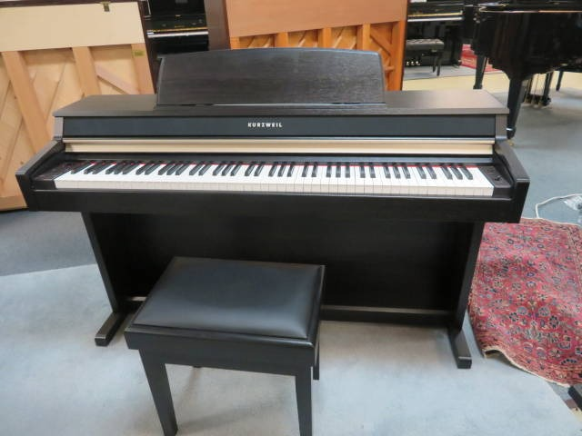 "17981-<br><font color=""black""><b>KURZWEIL ""DELUXE"" DIGITAL PIANO</b></font><br>Beautiful Satin Rosewood<br><font color=""red""><b> SPECIAL PURCHASE ! ONLY 2 LEFT ! </b></font> <font color=""blue""><b>Click Picture for ""Live Video""</font>"