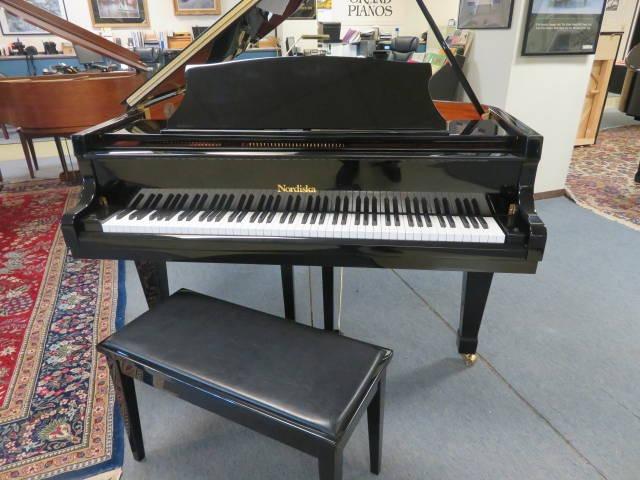 """12491-<br><font color=black><b>NORDISKA</b></font> 5'0″ Premium Grade Grand Piano Excellent ! <br><font color=blue><b>Click Picture for """"Live Video""""</b></font>"""