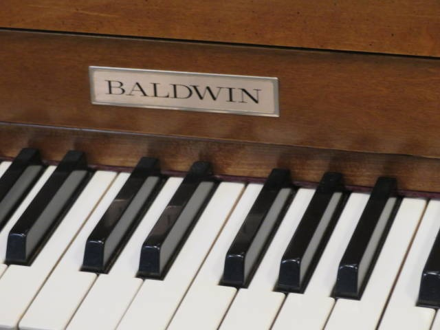 "15673-<br><font color=""black""><b>BALDWIN ACROSONIC</b></font> 43″ Upright Made in the U.S.A. Designer Pecan Cabinet!<br><font color=""blue""><b>Click Picture for ""Live Video</b></font>"