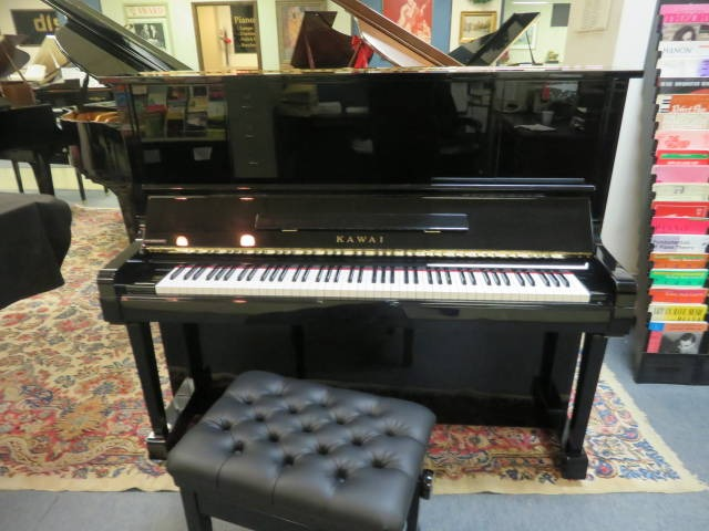 """15670-<br><font color=""""black""""><b>KAWAI</b></font> 52″ """"K"""" Series Professional Upright w/ Deluxe Artist Bench Immaculate! <br><font color=""""blue""""><b>Click Picture for """"Live Video""""</b></font>"""