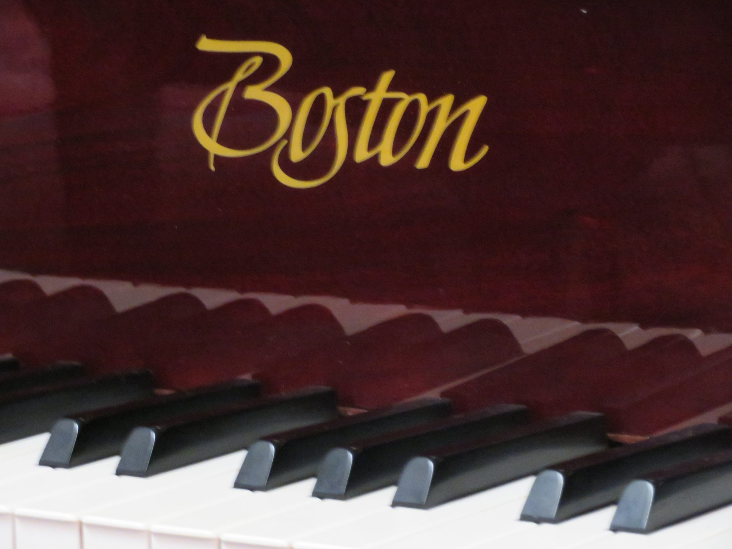 """12446-<br><font color=black><b>BOSTON 5'11"""" Grand Piano By Steinway & Sons</b></font> Rarely Played Immaculate! Polished Mahogany</b></font> <br><font color=blue><b>Click Picture for """"Live Video""""</b></font>"""