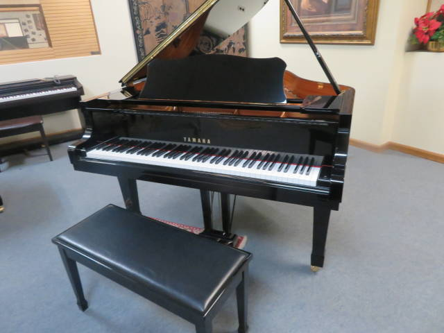 """12472-<br><font color=black><b>YAMAHA</b></font> 5'3″ Model C1 Immaculate  Inside and Outside ! <br><font color=""""blue""""><b>Click Picture for """"Live Video""""</b></font>"""