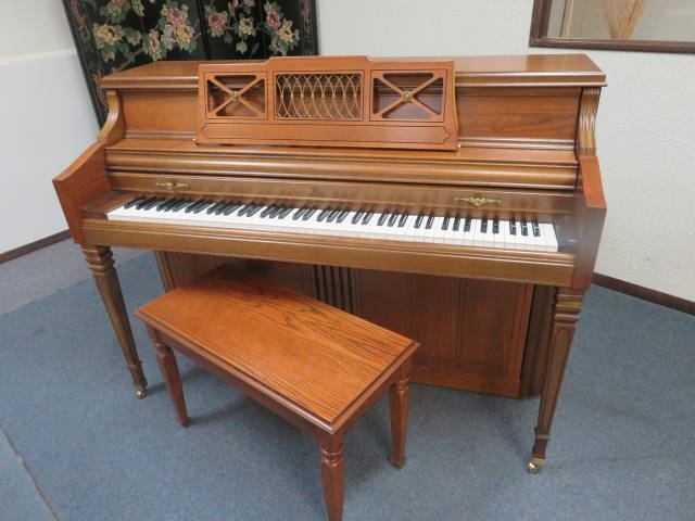 "15460-<br><font color=""black""><b>Wurlitzer</b></font> 43″ Upright Built in the U.S.A. Excellent !"